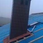Obróbka komina struktonitem.